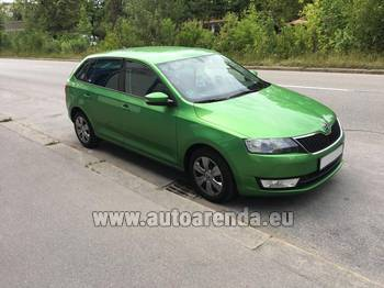 Аренда автомобиля ŠKODA Rapid Spaceback в Бордо